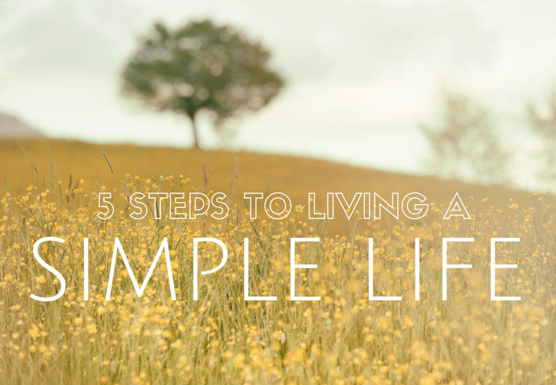living a simple life